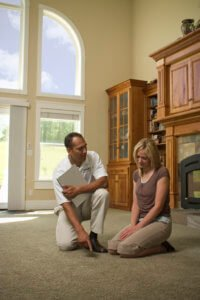chem dry tech explaining carpet care