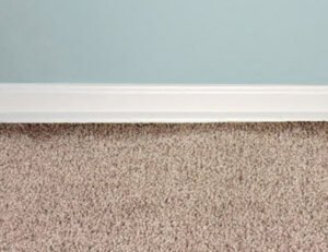 dark lines in carpet along the baseboard are filtration lines